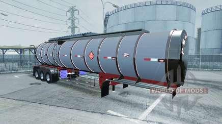 Chrome tanker 3-axle для American Truck Simulator