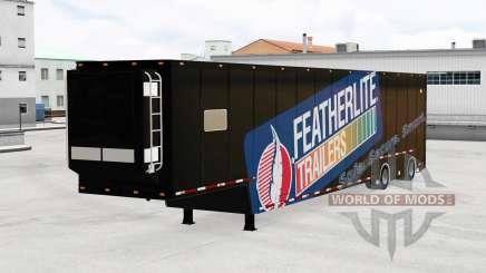 Featherlite semitrailer v1.3 для American Truck Simulator