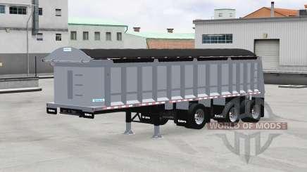 Cobra tri-axle dump trailer для American Truck Simulator