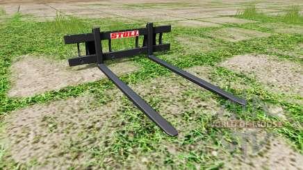 Stoll long pallet fork для Farming Simulator 2017