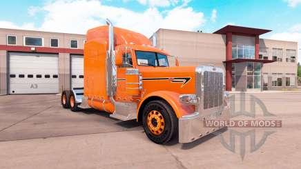 Скин Orange на тягач Peterbilt 389 для American Truck Simulator
