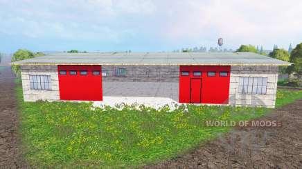 Placeable garage для Farming Simulator 2015