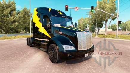 Скин Stars and Volts на тягач Peterbilt 579 для American Truck Simulator