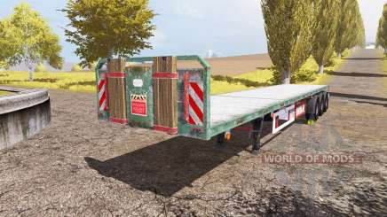 Kogel flatbed trailer для Farming Simulator 2013