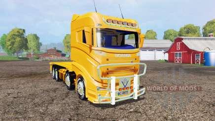 Scania R1000 container truck v1.1 для Farming Simulator 2015