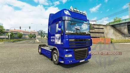 Скин Почта России на тягач DAF XF для Euro Truck Simulator 2