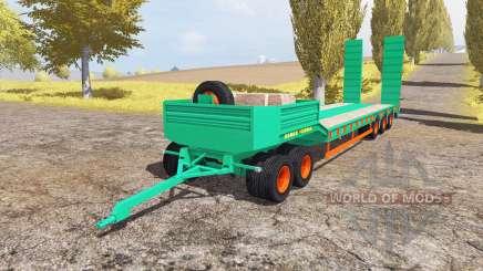 Aguas-Tenias lowboy 5-axis v2.0 для Farming Simulator 2013