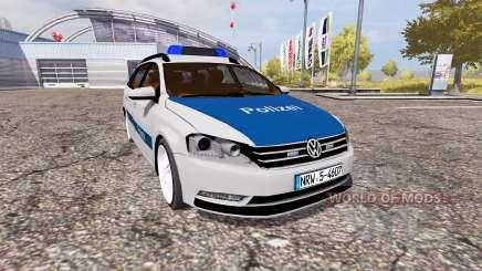 Volkswagen Passat Variant (B7) Polizei для Farming Simulator 2013