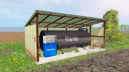 Gas station для Farming Simulator 2015