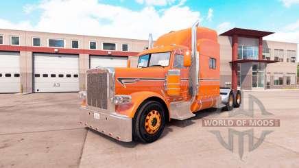 Скин Orange на тягач Peterbilt 389 v1.1 для American Truck Simulator