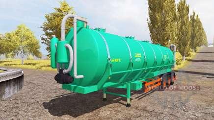 Aguas-Tenias tank manure v2.0 для Farming Simulator 2013