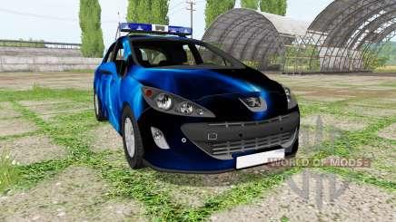 Peugeot 308 (T7) Police blue для Farming Simulator 2017