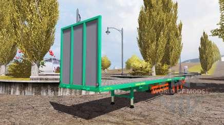 Aguas-Tenias bale semitrailer v2.5 для Farming Simulator 2013