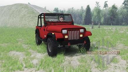 Jeep Wrangler (YJ) 1996 для Spin Tires