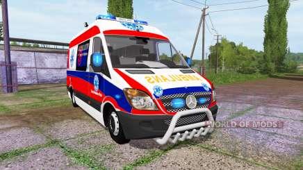 Mercedes-Benz Sprinter 311 CDI Ambulance для Farming Simulator 2017