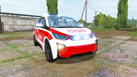 BMW i3 (I01) feuerwehr для Farming Simulator 2017