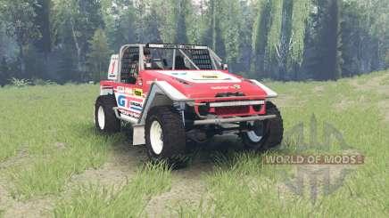 Toyota Land Cruiser (FJ40) Serigala Militia для Spin Tires