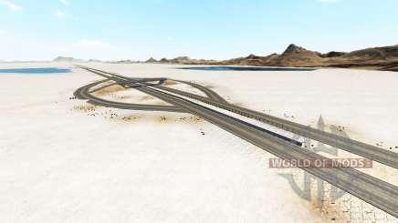 Bonneville Salt Flats v1.2 для BeamNG Drive