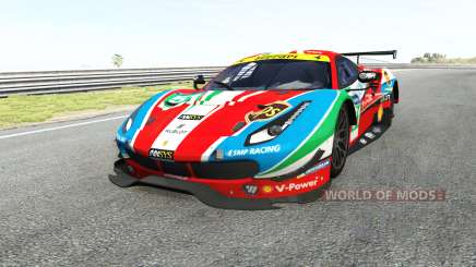 Ferrari 488 GTE для BeamNG Drive