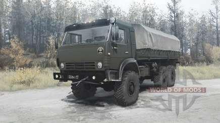 КамАЗ 5350 Мустанг зелёный для MudRunner