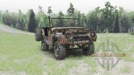 УАЗ 469 ржавый для Spin Tires