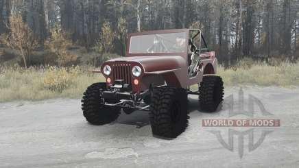 Jeep CJ-5 1954 для MudRunner