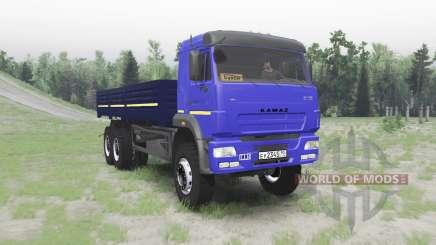 КАМАЗ 65117 синий для Spin Tires