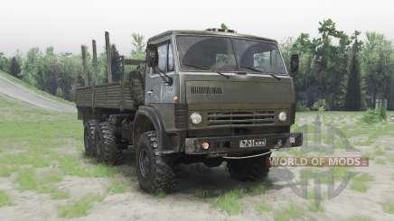 КамАЗ 43101 зелёный для Spin Tires