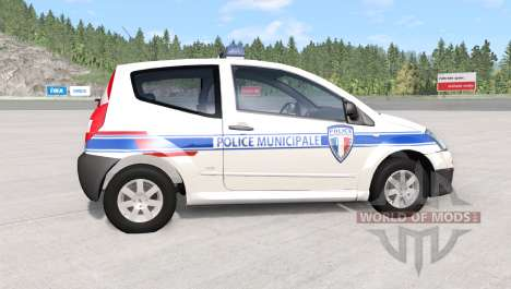 Citroen C2 police skins pack для BeamNG Drive