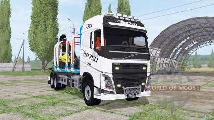 Volvo FH16 750 6x4 Globetrotter Timber Truck для Farming Simulator 2017
