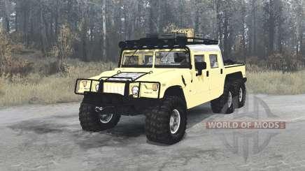 Hummer H1 Alpha 6x6 4-door convertible для MudRunner
