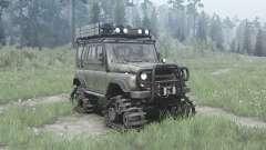 УАЗ 3151 гусеничные модули для MudRunner