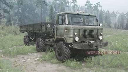 ГАЗ 66К для MudRunner