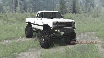 Dodge Power Ram Extended Cab (W250) 1991 для MudRunner