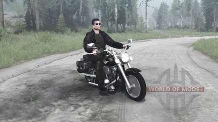 Harley-Davidson FLSTF Fat Boy для MudRunner