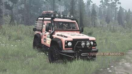 Land Rover Defender 90 Station Wagon expedition для MudRunner