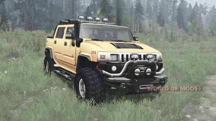 Hummer H2 SUT off-road для MudRunner