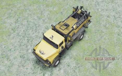 КрАЗ 260 4x4 жёлтый для Spin Tires