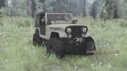 Jeep CJ-7 Renegade overland для MudRunner