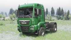 MAN TGS 18.440 4x4 green v1.3 для Spin Tires
