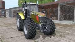 Massey Ferguson 7718 S gold design v1.1 для Farming Simulator 2017