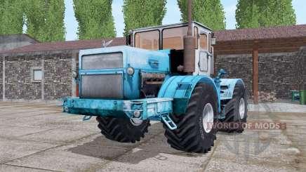 Кировец K-700A светло-голубой для Farming Simulator 2017