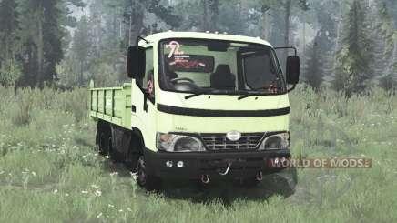 Hino Dutro 2008 three-axle для MudRunner