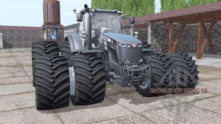 Massey Ferguson 8737 double wheels для Farming Simulator 2017