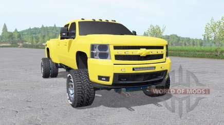 Chevrolet Silverado 3500 HD Crew Cab 2007 v2.0 для Farming Simulator 2017