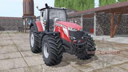 Massey Ferguson 8740 S More Realistic v1.1 для Farming Simulator 2017