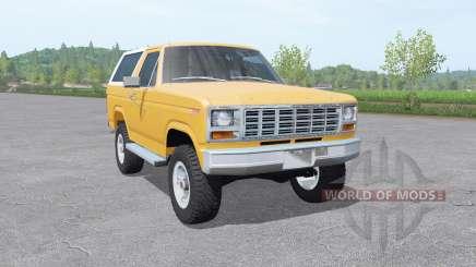 Ford Bronco XLT (U150) 1981 v1.3 для Farming Simulator 2017