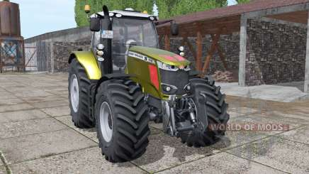Massey Ferguson 7718 S gold design v1.1 для Farming Simulator 2017