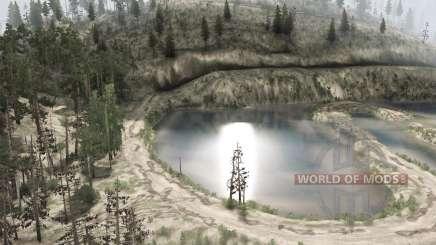 Гора. река. Ленин и дрова для MudRunner