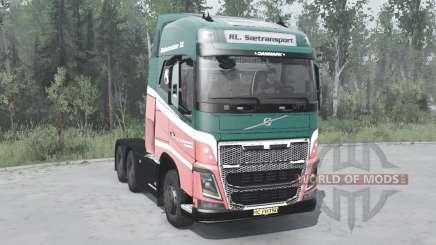 Volvo FH16 750 6x6 Globetrotter XL 2014 для MudRunner